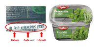 """Codierung auf der Verpackung. iglo Deutschland ruft vorsorglich das Produkt """"iglo Petersilie"""" zurück und warnt vor dem Verzehr der relevanten Charge. Dabei handelt es sich um das Produkt mit dem Mindesthaltbarkeitsdatum 01.2019 und der im Folgenden genannten und abgebildeten Codierung, die auf der Verpackungsseite angegeben ist. Bild: """"obs/iglo Deutschland"""""""
