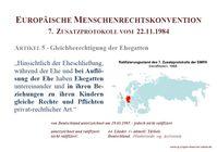 """Väterverbände prangern Untätigkeit der Bundesregierung an / EMRK 7. Zusatzprotokoll Ratifizierungen Stand 2018 / Bild: """"obs/IG-JMV"""""""