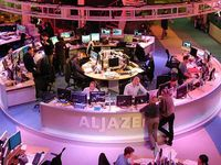 TV-Studio: Unruhe in Ägypten. Bild: flickr/Laika slips the lead