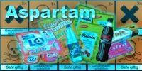 Aspartam, auch bekannt als Nutra-Sweet, Equal, Spoonfull, Canderel, Sanecta oder einfach E951 ist ein sogenannter Zuckerersatzstoff (E950-999)
