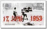 Deutsche Briefmarke von 2003 zum 50. Jahrestag des Volksaufstandes in der DDR