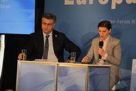 Premierministerin Ana Brnabic mit ihrem kroatischen Amtskollegen Andrej Plenković beim Europaforum Wachau 2018