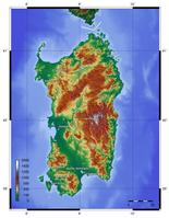 Topographie Sardiniens