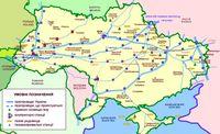 Gas pipeline network in Ukraine