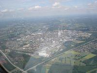 Der Chemiepark Marl (ehemals Chemische Werke Hüls AG) in Marl im Ruhrgebiet ist einer der größten Industrieparks in Deutschland. (Luftbild)