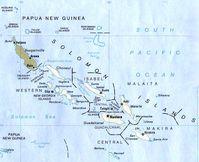 Karte der Salomon-Inseln