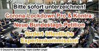 Petition fordert Expertenkommission Pro & Kontra Lockdown