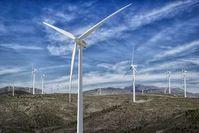 Windpark: Turbinen machen Windschatten.