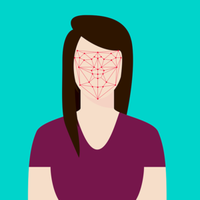 Gesicht erfassen: ein Überwachungs-Risiko.