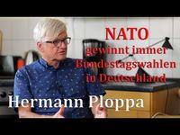 """Hermann Ploppa (2021) Bild: SS Video: """"Hermann Ploppa: Der Sieger bei Bundestagswahlen steht immer fest – die NATO"""" (https://youtu.be/2McYlSyzjo8) / Eigenes Werk"""