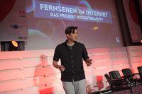 """Daniel Budiman (Rocket Beans). Bild: """"obs/newTV Kongress/nextMedia.Hamburg"""""""