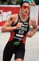 Nicola Spirig beim Weltmeisterschaftsserien-Triathlon in Kitzbühel, 2010