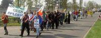 Eine von vielen Demonstration gegen die Urananreicherungsanlage in Almelo (April 2005). Bild: BBU