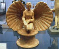 Terrakotta-Statuette der Aphrodite in einer Muschel, drittes Jahrhundert v. Chr.