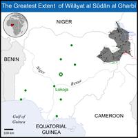 Hauptaktionsgebiet von Boko Haram im nordöstlichen Grenzgebiet von Nigeria und Kamerun südlich des Tschadsees