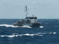 Minenjagdboot Datteln (M 1068) fährt im Rahmen der Mission EUNAVFOR MED Operation Sophia, am 24.06.2016. Bild: Bundeswehr