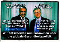 Zwei Menschen - ohne Fachwissen - die über das Wohl der Menschheit entscheiden wollen und mit riesigen Geldmengen bisher erfolgreich dabei sind (Symbolbild)