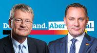 Prof. Dr. Jörg Meuthen und Tino Chrupalla (2021)