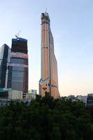 Der Mercury City Tower am 20. Oktober 2012