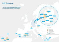 BILD zu OTS - Grafik der Verfahren von FairPlane in den TUIfly -Fällen