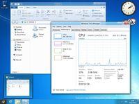 Desktop der Windows-8-Entwicklervorschau. Bild: wikipedia.org