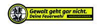 """Grafik """"Gewalt geht gar nicht"""" des Deutschen Feuerwehrverbandes."""