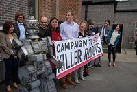 Gegen Killer-Roboter: Aktivisten in London. Bild: stopkillerrobots.org