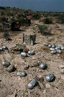 Nicht explodierte Streumunition liegt in Massen auf Feldern und Wegen. Bild: John Rodsted