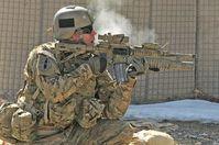 Soldat: Bessere Kugelsicherheit von Vorteil. Bild: flickr.com/DVIDSHUB