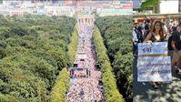 """Am 01.08.2020 fanden sich zur Demo """"Ende der Pandemie und Tag der Freiheit"""" unglaublich viele Menschen ein."""