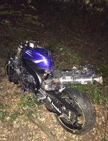Das total beschädigte Motorrad nach dem Unfall