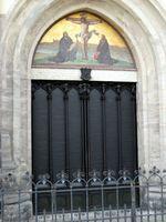 Thesentür an der Schlosskirche in der Lutherstadt Wittenberg