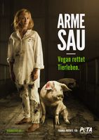 "Franka Potente für PETA / Bild: ""obs/PETA Deutschland e.V./Manfred Baumann"""