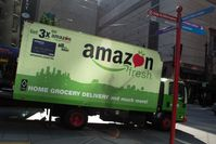 Amazon Fresh LKW in Seattle