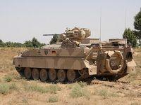 Der Schützenpanzer Marder ist ein Vollkettenfahrzeug und wird von den Panzergrenadieren im Einsatz verwendet, er hat eine Besatzung von 9 Soldaten und eine Bordkanone. Bild: