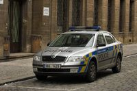 Einsatzwagen der tschechischen Polizei