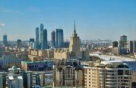 Blick auf das moderne Moskau