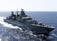 Fregatte Bayern wŠhrend der Operation Enduring Freedom auf See.