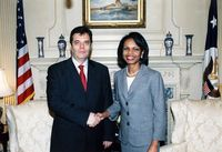 Koštunica mit Condoleezza Rice 2006 in Washington D.C.