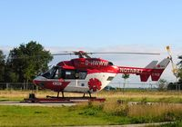 Hubschrauber der DRF-Luftrettung des Typs BK 117 Christoph Europa 5, Standort Niebüll