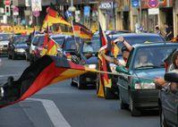 Autokorso während der Fußball-Weltmeisterschaft 2006