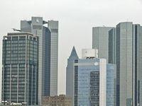 Wolkenkratzer: Banker bangen um ihre Jobs.