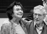 Mirjam Pressler und Amos Oz auf der Leipziger Buchmesse (2015)