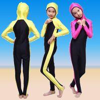 Kinder Schwimmanzug: Islamische ganzkoerper Badeanzug im Burkini-Stil