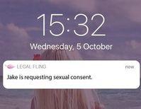Neue Anfrage von Jake: App organisiert Sexleben. Bild: legalfling.io