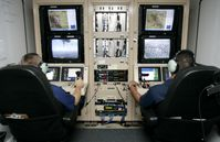 Kontrollstation am Boden für eine Drohne