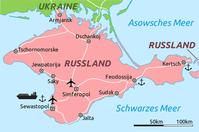 Karte der russischen Halbinsel Krim