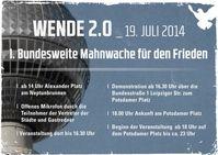 Plakat zur Bundesweiten Mahnwache in Berlin