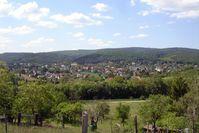 Blick vom Wetterkreuz auf Bad Sauerbrunn
