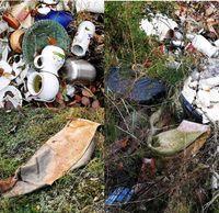 Woher stammt dieser illegal entsorgte Müll? Bild: Polizei